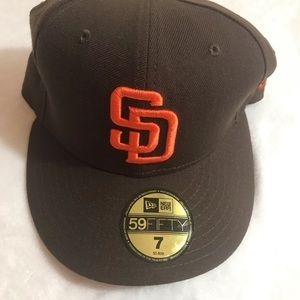 New Era San Diego Padres 59fifty Hat Cap Size 7